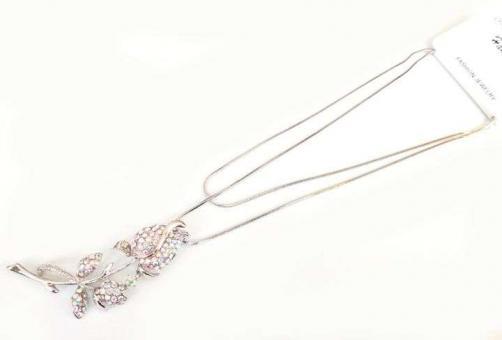 №5885 Ожерелье серебро длинная цепочка