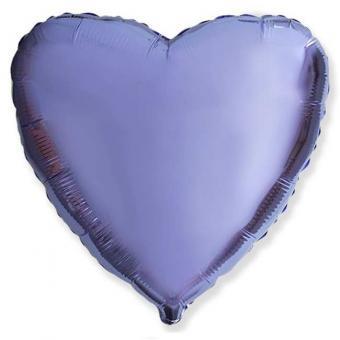 Сердце 18 дюймов(45х45см)  сиреневое  FLEXMETAL