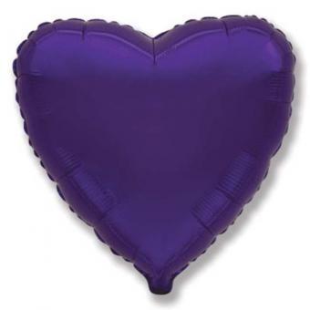 Сердце 18 дюймов(45х45см)  фиолетовое FLEXMETAL