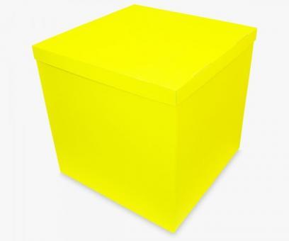 Коробка-сюрприз желтая 70х70х70см. (для шариков)