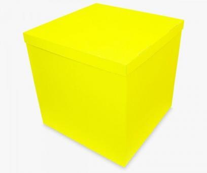 Коробка-сюрприз желтая 50х50х50см. (для шариков)
