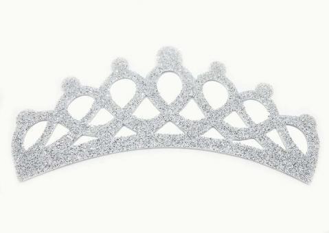 №981 Заготовка корона фоамиран серебро