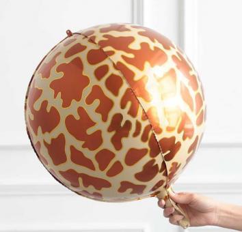 Фольга 3Д сфера Жираф