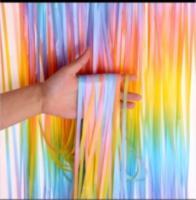 Шторка (дождик) разноцветная(омбре) 1х2 м. из фольги для фотозон
