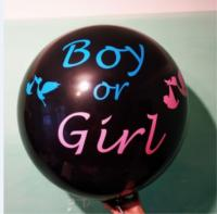 """Наклейка на шар 19""""(48 см)  girl or boy (розовая и голубая)"""