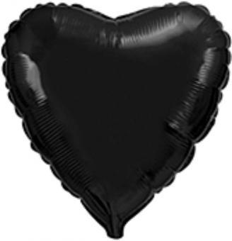 Сердце 18 дюймов(45х45см)  черное  FLEXMETAL