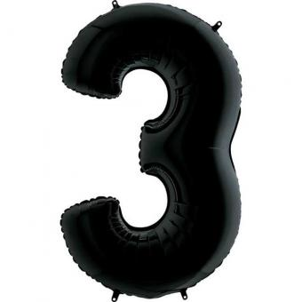 "Цифра ""3"" черная Grabo(Грабо) 100см.  (УП)"
