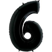 "Цифра ""6"" черная Grabo(Грабо) 100см.  (УП)"