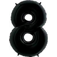 "Цифра ""8"" черная Грабо(Grabo)100см. (УП)"