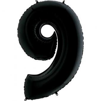 "Цифра ""9"" черная Грабо(Grabo)100см. (УП)"