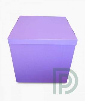 Коробка-сюрприз сиреневая 70х70х70см. (для шариков)