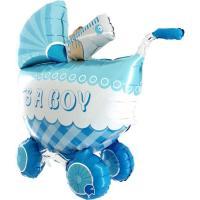 Шарик Грабо, Детская коляска голубая, 36″ УП (73060)