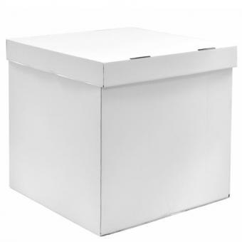 Коробка-сюрприз (для шариков) белая 68х65х65см