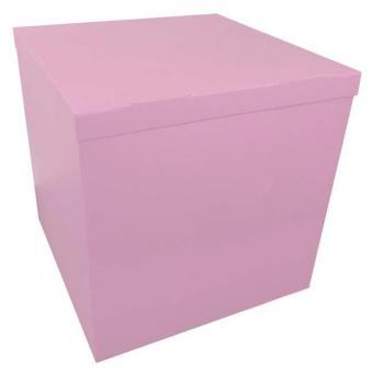 Коробка-сюрприз светло розовая 50х50х50см. (для шариков)