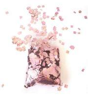 Конфети в шарики квадратики розовое золото 6х6мм(100грамм)