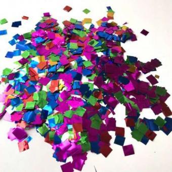 Конфети в шарики квадратики микс 8х8мм(100грамм)