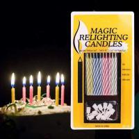 Свечи-набор для торта Magic незатухающие 10 свечей с креплениями