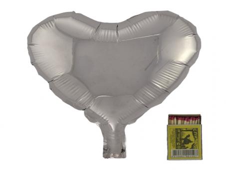 Сердце(мини) 9 дюймов(24х25см) серебро Китай