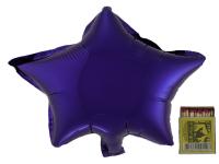Звезда(мини) 9 дюймов(24*25 см) фиолеовая Китай от 5шт