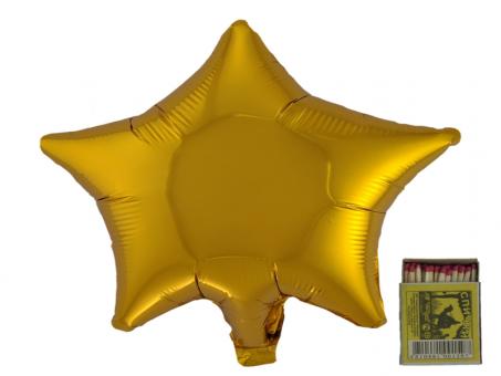 Звезда(мини) 9 дюймов(24*25 см) золото Китай