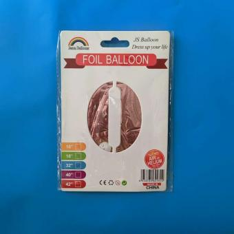 Цифра 0 средняя 80 см. розовое золото Jason Balloons