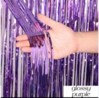 Шторка (дождик) фиолетовая 1х2 м. из фольги для фотозон