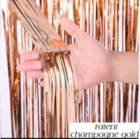 Шторка (дождик) розовое золото 1х3 м.  из фольги для фотозон