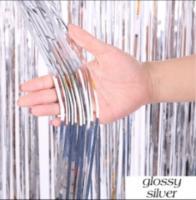 Шторка (дождик)  серебро 1х3 м. из фольги для фотозон