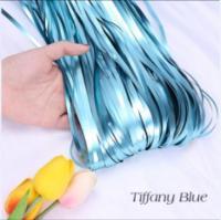 Шторка (дождик) голубая матовая 1х2 м. из фольги для фотозон