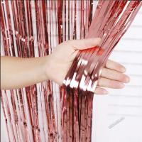 Шторка (дождик) Розовое Золото 1х2 м. из фольги для фотозон