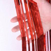 Шторка (дождик) красная 1х2 м. из фольги для фотозон