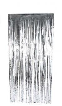 Шторка (дождик) Серебро 1х2 м. из фольги для фотозон