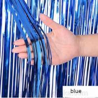 Шторка (дождик) Синяя 1х2 м. из фольги для фотозон