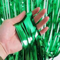 Шторка (дождик) Зеленая 1х2 м. из фольги для фотозон