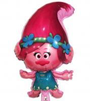 """Фольгированный шар  """"Тролли"""" принцесса Розочка 75х43 см"""